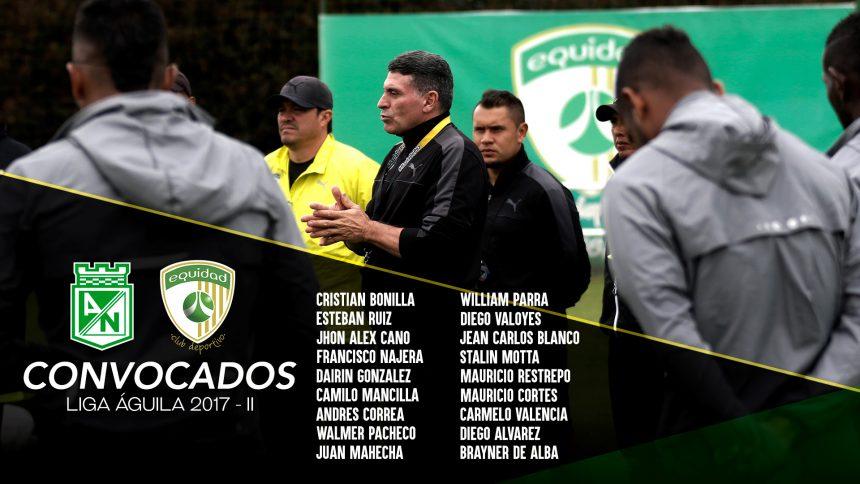 Convocados vs. Atlético Nacional