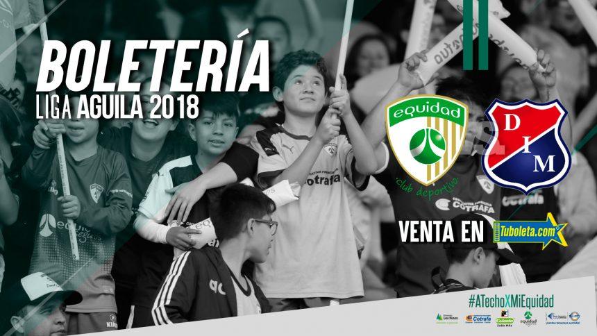 Boletería vs. Independiente Medellín por Liga Águila