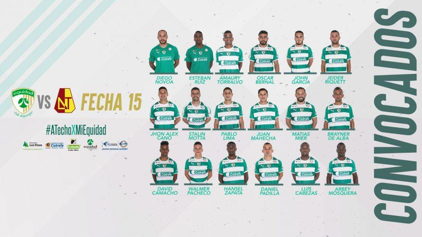 Convocados vs. Deportes Tolima por Liga 2018-II