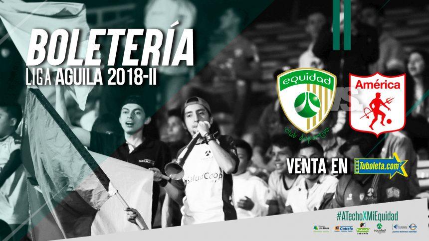 Boletería vs. América de Cali por Liga 2018-II