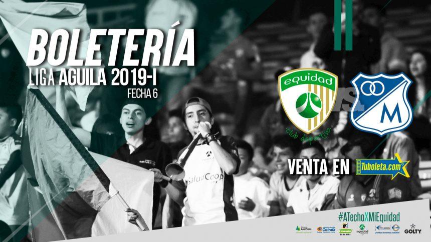 Boletería Vs. Millonarios Liga Águila 2019-I