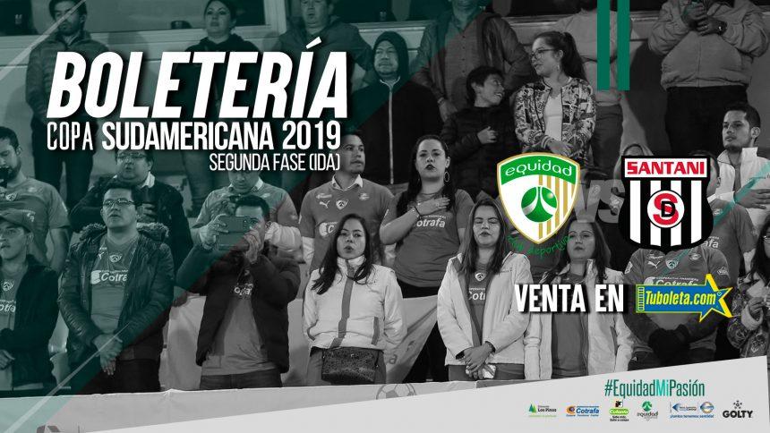 Boletería vs. Deportivo Santaní por Copa Sudamericana