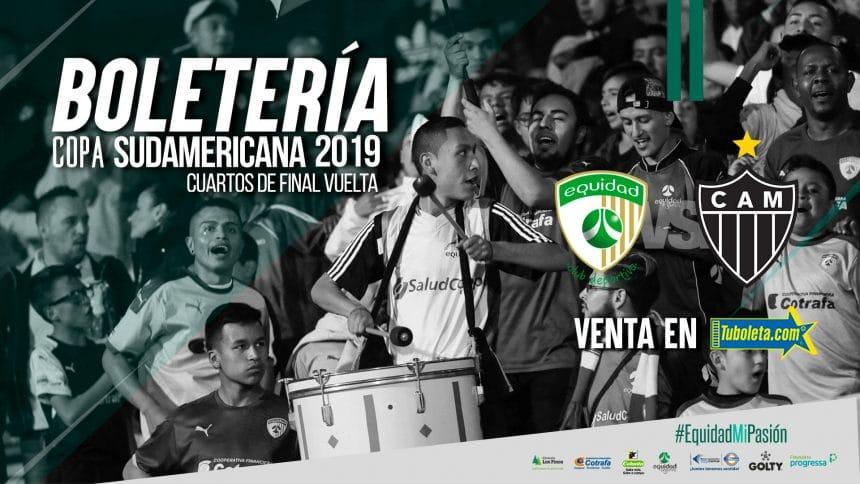 Boletería vs. Atlético Mineiro por Copa Sudamericana
