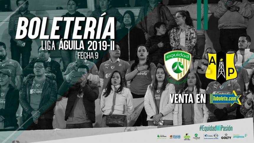 Boletería vs. Alianza Petrolera por Liga 2019-II