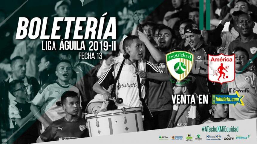 Boletería vs. América de Cali por Liga 2019-II