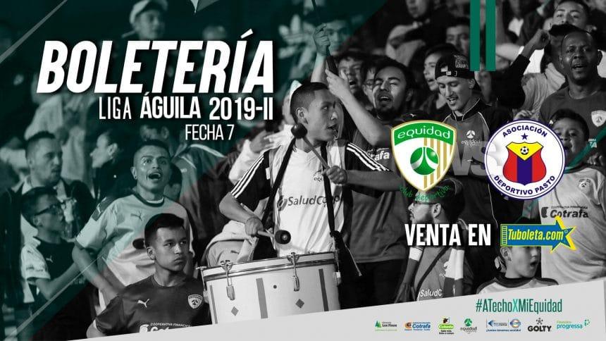 Boletería vs. Deportivo Pasto por Liga 2019-II