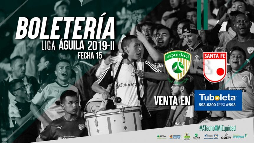 Boletería vs. Santa Fe por Liga 2019-II